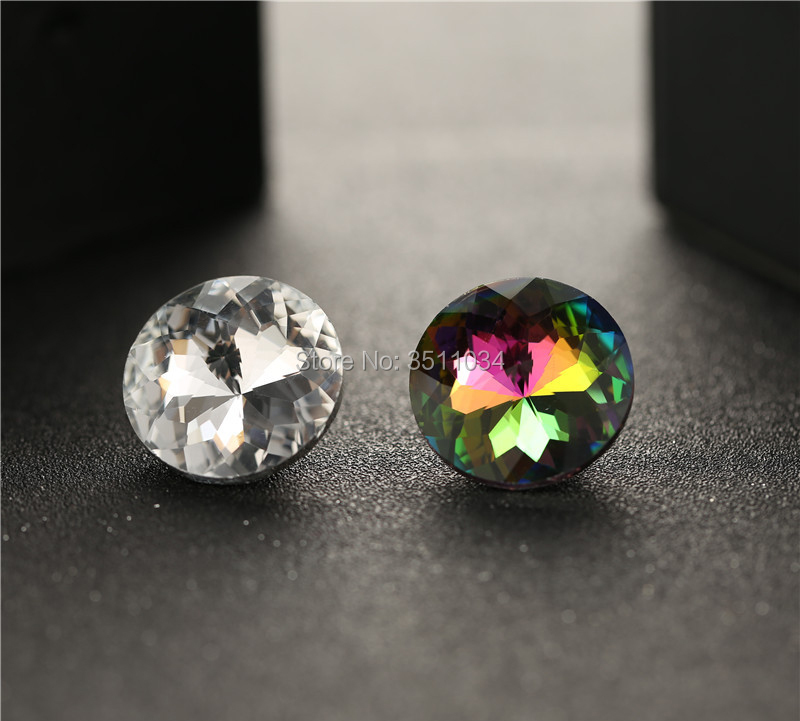 100Pcs 18-30mm Crystal Nails Button Pins Glass Buttons Sofa Wall Decoration Furniture Accessories Crystal buckle buttons crystal 100pcs mini button buckle blyth doll clothing accessory tri glide 3 mm ultra small belt buckle doll clothes buttons shoes buckle