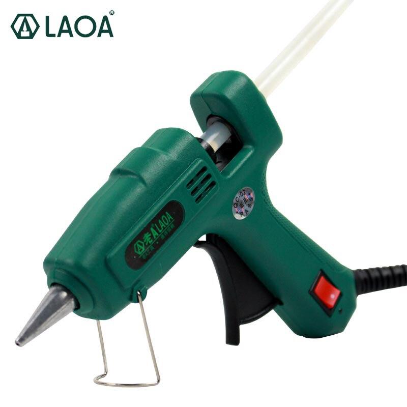 LAOA 25 W/100 W Thermofusible Pistolet À Colle Bâton Mini Pour Le Métal/Travail Du Bois Bâton Papier Guns Thermo Électrique Chaleur Outil
