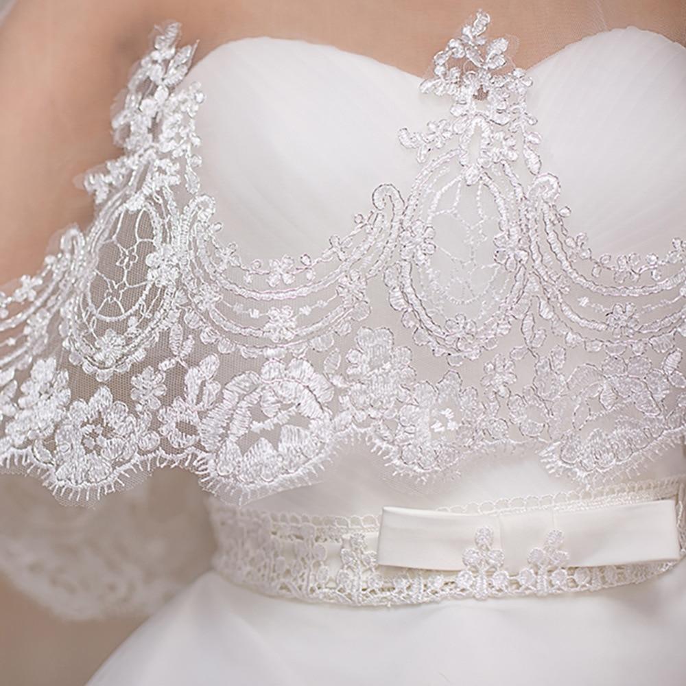 JaneVini 2018 Top Bolero Lace Wedding Bolero Wraps Beaded White/Red Lebanon Bridal Boleros Tulle Summer Jacket Verkleed Cape