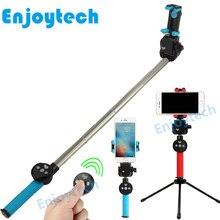 купить 360 degree Rotating Panoramic Bluetooth Selfie Stick for Iphone Xiaomi Samsung Android Phones Monopod Tripod for Video Bloggers по цене 1322.16 рублей