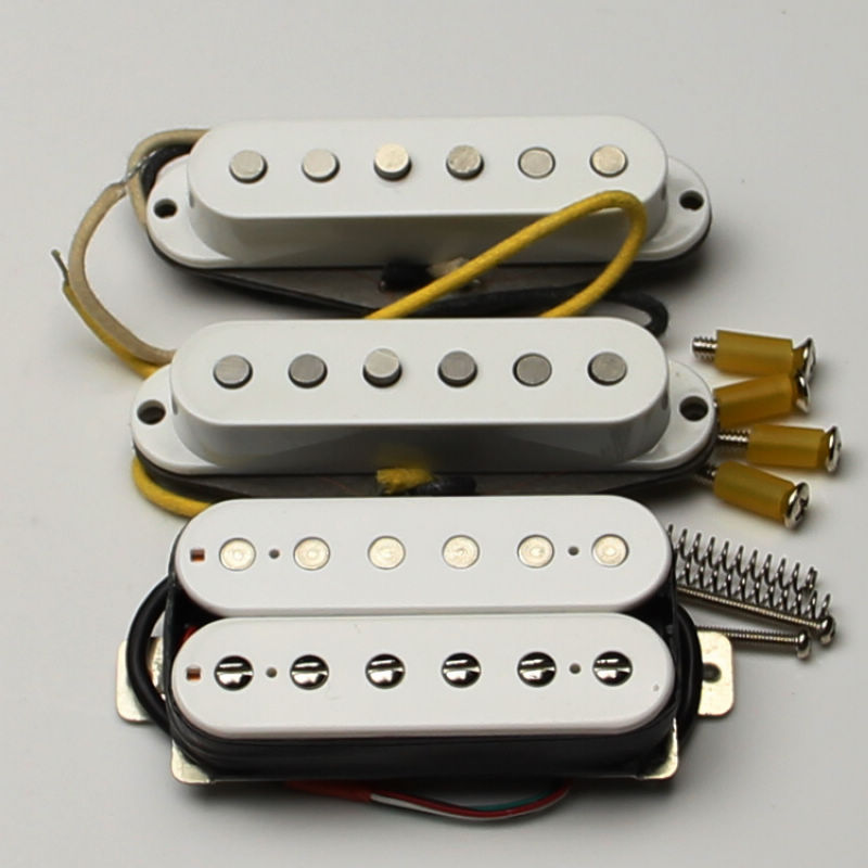Vintage single plus Electric guitar pickups two single white single coil pickups+ LA Special pickups Humbucker Bridge Parts 2pcs chrome double coil humbucker pickups neck