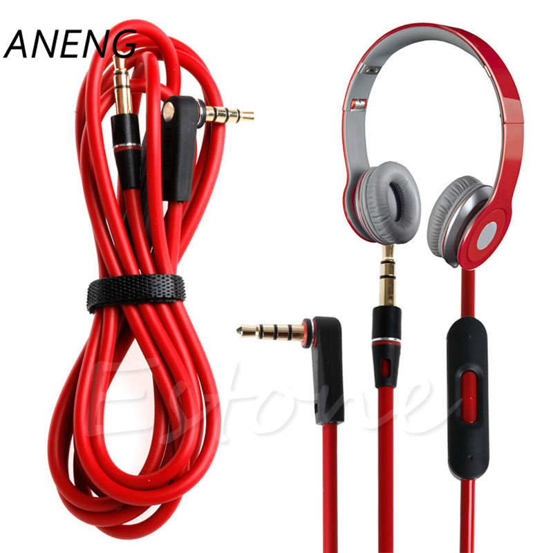 цена на ANENG 3.5mm Audio Cable 3 5 Aux Cable for Beats Solo HD Studio Pro Mixr Headphone Mobile Phone Speaker Aux Cord Wire