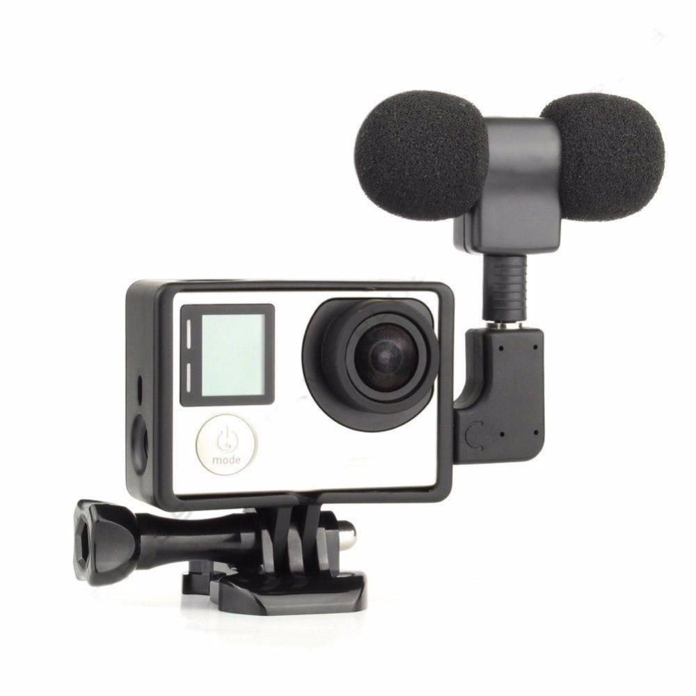 Arritja e re e jashtme 3.5 mikrofoni stereo mikrofon + Adapter mini - Audio dhe video portative