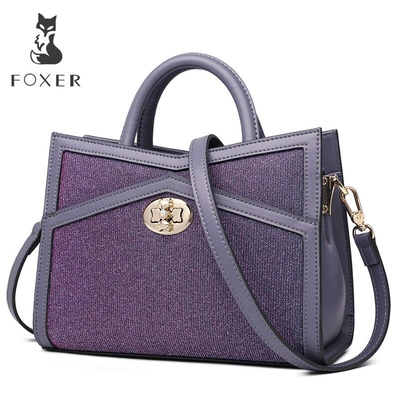 FOXER Brand New Design Girl s Stylish Evening bag Fashion Women Shoulder Bags Female Messenger Bag