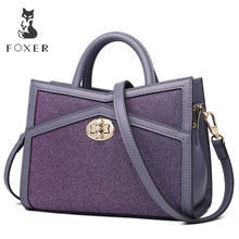 FOXER Brand New Design Girl's Stylish Evening bag Fashion Women Shoulder Bags Female Messenger Bag Large Capacity Original Totes