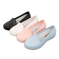 Women Rainboots Qualtiy Rubber Garden Shoes Work Protective Labor Shoes Causal Flats Students Low Top Wrok