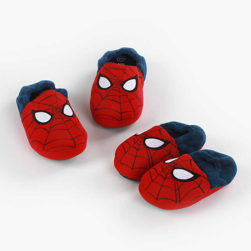 15452bf64a1 ... Children Cartoon Spiderman Cotton Winter Warm Slippers Kids Boys Fur  Plush Indoor Home Shoes Baby Girls ...