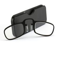 4aafcce51 NOVO Design de Óculos de Leitura Clipe Carteira Das Mulheres Dos Homens de  Mini Ultraleve SOS Mais Velho Óptica Com Caixa de .