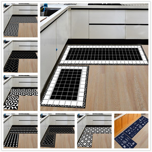 Modern Geometric Kitchen Mat Anti-Slip Bathroom Carpet Home Entrance/Hallway Door Mat Wardrobe/Balcony Area Rug Creative Carpets(China)