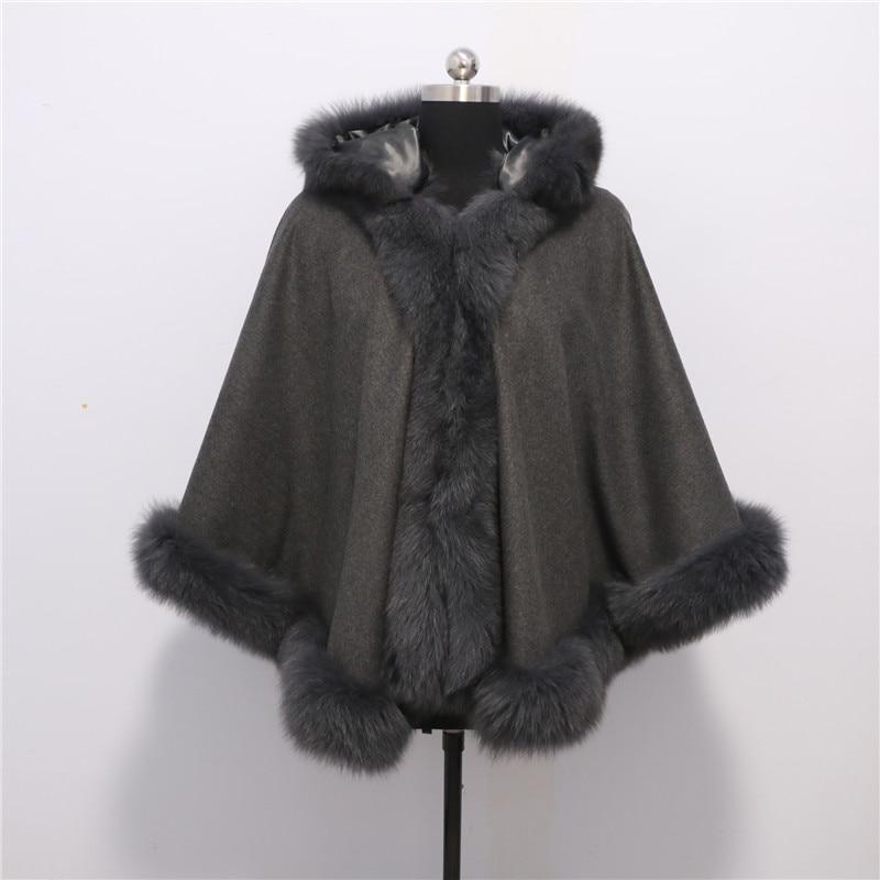 Doprava zdarma Nová móda Noble fox Fur Coat Cashmere Poncho Fox fox - Příslušenství pro oděvy