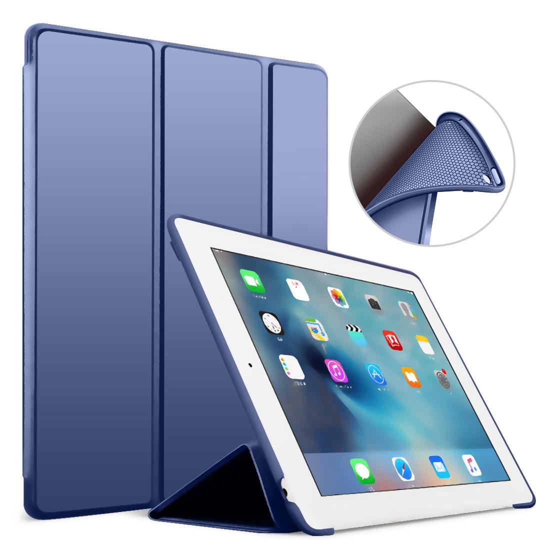 Fall für iPad 2/3/4 Fall Silikon Weiche Zurück Folio Stand mit Auto-Sleep/Wake Up PU Leder Smart Cover für iPad 3 4 2 Fall