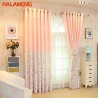 Girls Light Pink Curtains Floreal Home Ruffle Curtains For Bedroom Chinese Style Curtains Drapes In Living Room AXY8144