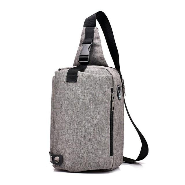 44be4e3bbc5f Luxury New Canvas Chest Bag Fashion Designer Men s Polyester Sling Bags  Chest Pack Crossbody Men Boston Bag Mini 2018 B311