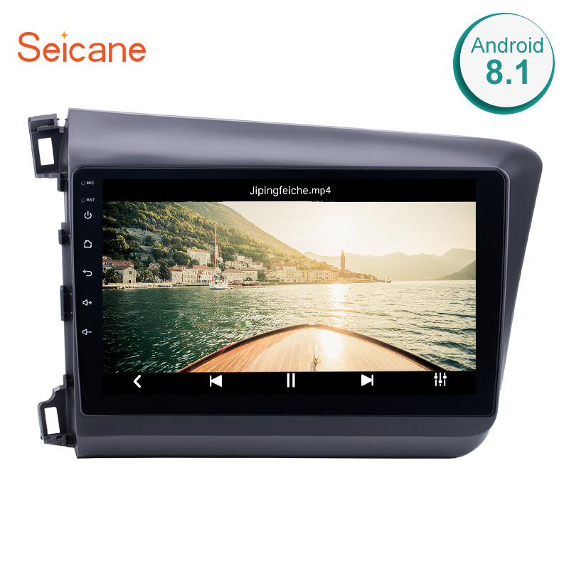 Seicane 10.1 Android 8.1 GPS Car radio for 2012 Honda Civic with CD DVD Player Bluetooth 3G HD Multi touch Capacitive Screen