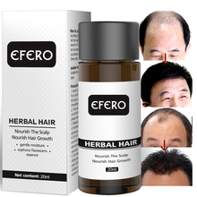 EFERO Hair Growth Serum Oil Natural Essence Beard Growth Serum Faster Grow Eyelashes Shampoo Hair Loss Product Hair Care Serum