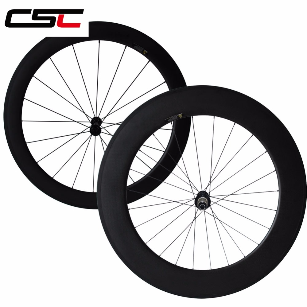 CSC T700 powerway 25mm wide R13 Hub 38+50 50+60 50+88 60+88mm deep Clincher Tubular bike Road wheels carbon bicycle wheelset �������� 215 60 r13