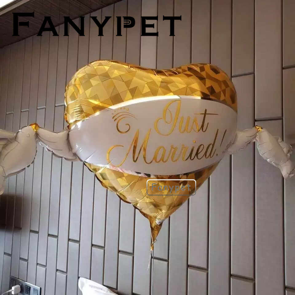 just married balloon Mr Mrs heart shaped custom personalized party decoration bride big wedding balloon Bridal To Be Engagement