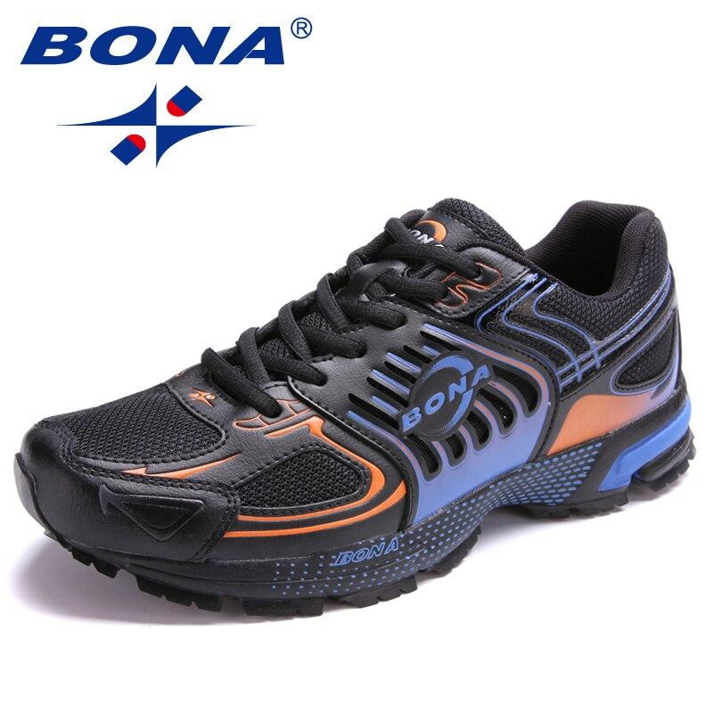 BONA nouveauté Style populaire hommes chaussures de course en plein air Jogging baskets chaussures à lacets hommes chaussures de Sport confortables