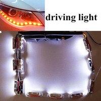 Hot Sell LED TEAR EYE DRL Flexible LED Headlight Strip White Amber Switchback Daytime Runing Lamp