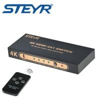 STEYR HDMI Switch 4x1 4 Ports HDMI Switcher 1 4 With IR Wireless Remote 4 Input