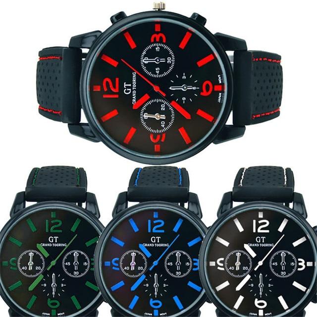 98132c8724c GEMIXI vendas Quentes marca de Luxo Homens relógio de Aço Inoxidável Moda  Esporte Legal watchproof relógio