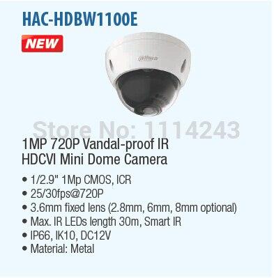 ФОТО DAHUA CCTV 1MP 720P Vandal-proof IR HDCVI Mini Dome Camera with 30M IR Distance HAC-HDBW1100E