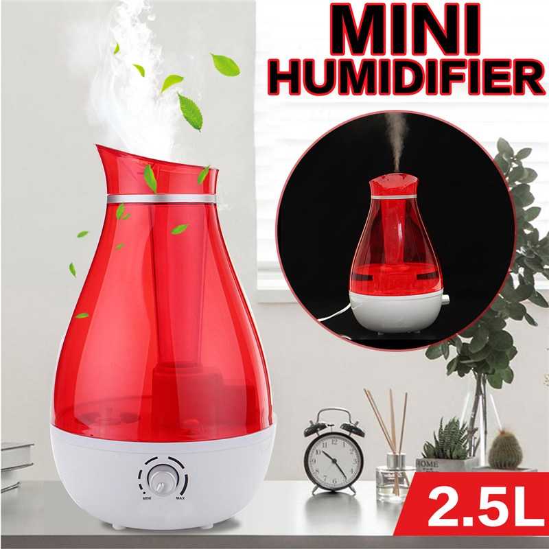 2.5L Ultrasonic Humidifier Home Aroma Air Diffuser Purifier Atomizer With Night Lighting For Home Office Mist Maker Diffuser chongqing quality crankcase mainbody for 152f 2 5hp 97cc gasoline engine 1kw generator spare parts