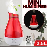2 5L Ultrasonic Humidifier Home Aroma Air Diffuser Purifier Atomizer With Night Lighting For Home Office