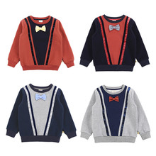 2019Spring New Kids clothes Baby Boys Sweatshirt baby boy Clothes patchwork thick warm little Casual 1 2 3 4T 5T