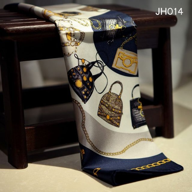 JH014, 53X53 CM, frete Grátis, pequeno Quadrado De Seda Lenço De Sarja de Seda de Alta qualidade da listra azul de seda pequena toalha de rosto pequeno lenço de seda