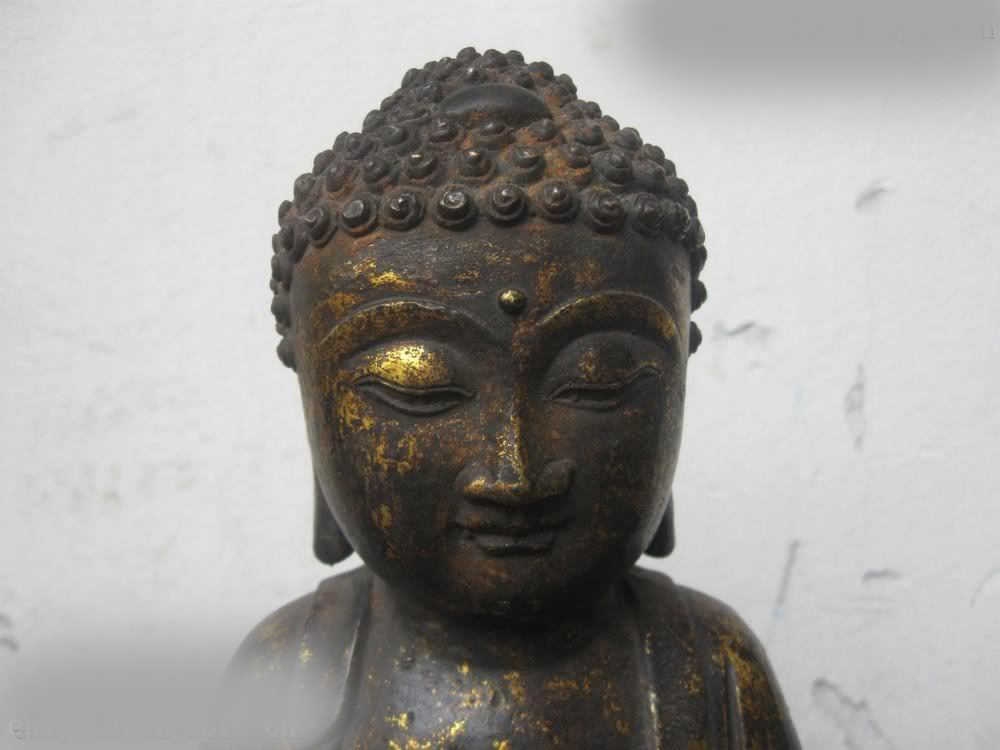 DS China copper Bronze Gild Buddhism Sit Sakyamuni Buddha Sculpture Statue портативная акустика hi fun hi bomb 2 pink