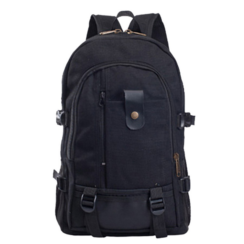 Adisputent Canvas Backpack Travel Laptop Men's Casual Fashion Zipper Leisure