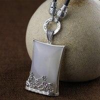 Tập mỹ bạc trang sức bán buôn 925 sterling bạc trang sức dát jade bột giấy net cá vàng nhỏ mặt dây chuyền nữ túi đồ trang sức mail