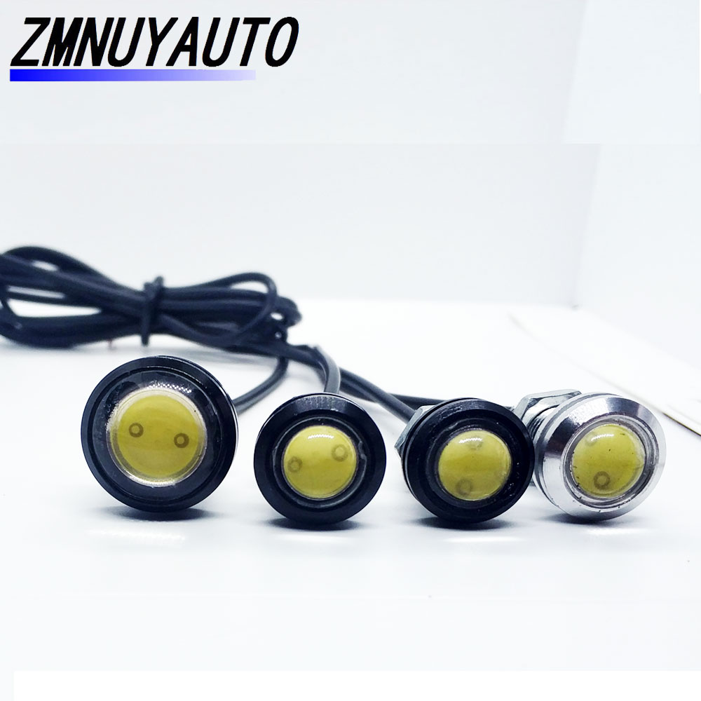 1pcs 12V 18mm 23mm Car Eagle Eye Led Daytime Running Lights <font><b>Auto</b></font> Reversing Backup Parking Signal Fog Lamp <font><b>Bulb</b></font> Automobiles DRL image