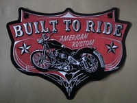 11.8 inches BULLT TO RIDE large Embroidery Patches for Jacket Motorcycle Biker 30cm * 22.5 cm