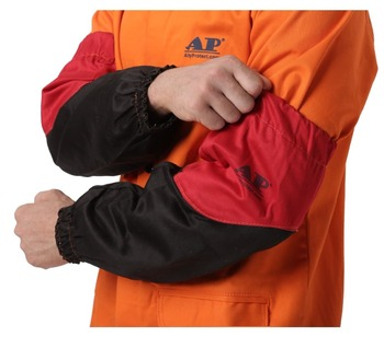 Welder Arm Protective Sleeve 46cm 18 Flame Resistant Cotton Sleeves for Arc Welding Plasma Cutting Welding Sleeves 1meterwear resistant flame retardant nylon protective sleeve sheath cable cover welding tig torch hydraulic hose large diameter