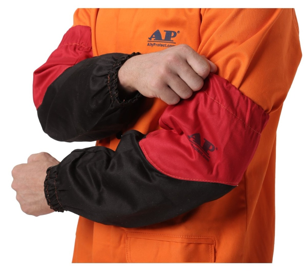 Welder Arm Protective Sleeves Flame Resistant Cotton Sleeves For Arc Welding Plasma Cutting 46cm 18