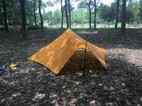 550G Camping Tent Ultralight 1 2Person Outdoor 20D Nylon Both Sides Silicon Pyramid Large Pentagonal Tower