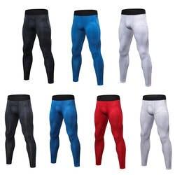 Для мужчин быстросохнущая печать тренировочные спортивные брюки Фитнес работает плотно Штаны SPSYL0037