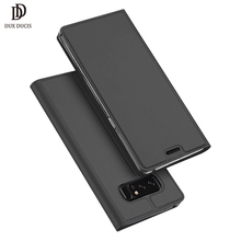 Luxury DUX DUCIS Case For Samsung Galaxy Note 8 Flip Cover Wallet Leather Case For Samsung Note8 Note 8 Dual Sim Case Card Slot