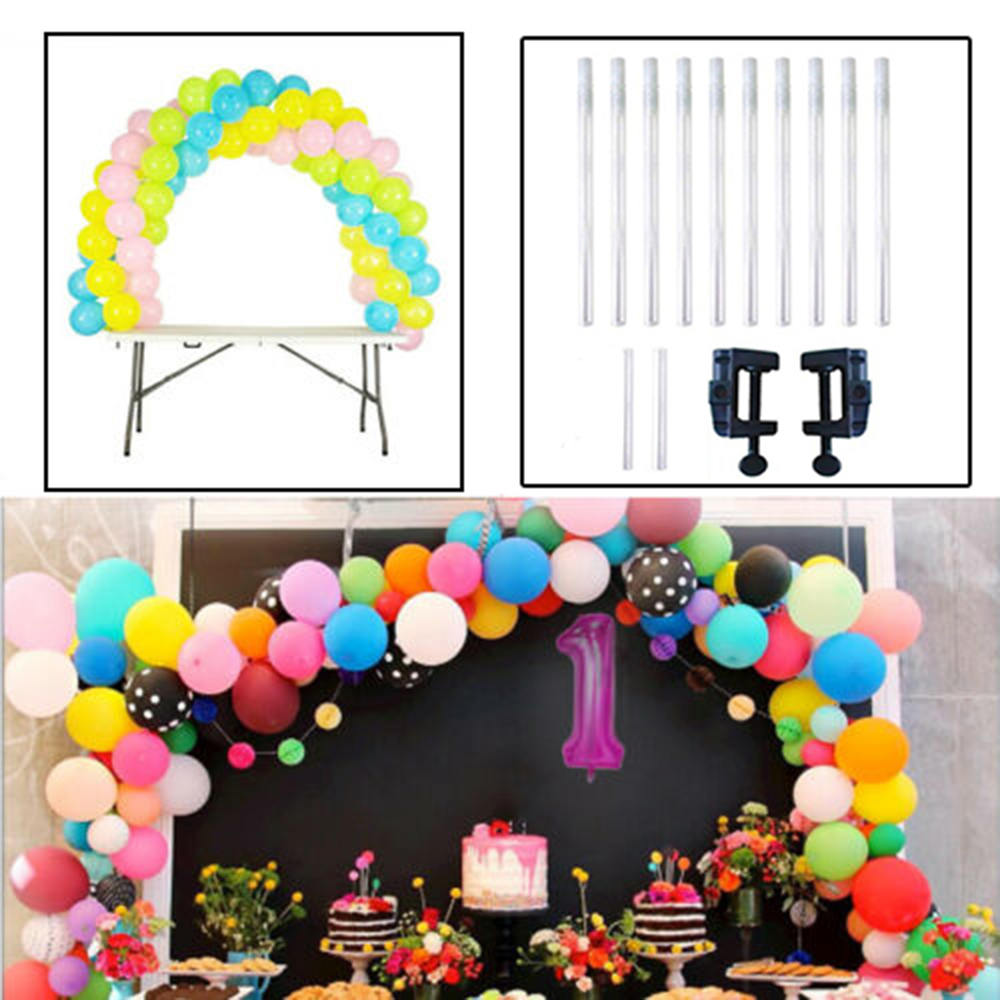 Detachable Balloon Removable Portable Arches Ballon Display Support Kits Table Arches Wedding Decoration Supplier in Ballons Accessories from Home Garden