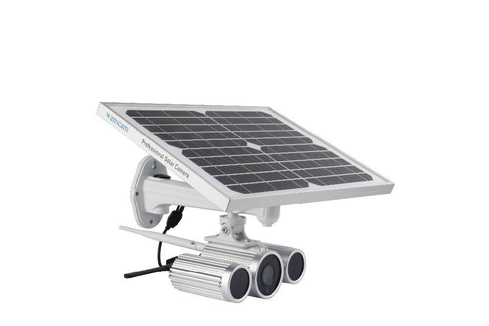Prise en charge de HW0029-6 wanarnaque 3G/4G carte Sim Starlight Vision nocturne Onvif deux Batteries 1080P caméra IP à énergie solaire avec carte TF 16G
