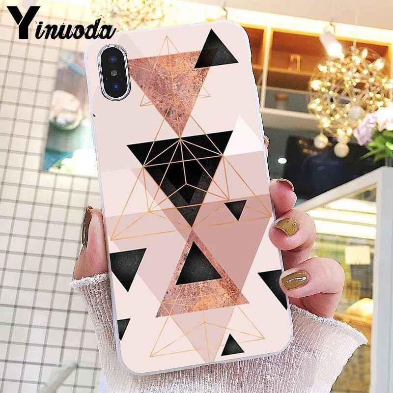 Yinuoda or rose paillettes marbre couverture de téléphone pour iphone 11 Pro Max X XS MAX 6 6s 7 8plus 5 5S SE XR