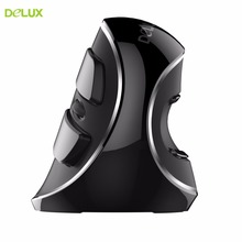Delux M618 Plus Wired Ergonomic Vertical Mouse Blue Light Computer Gaming Mouse Optical Computer Mice