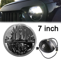7 78w Round LED Projector Headlights With DRL Hi Lo Beam For J Eep Wrangler 1997