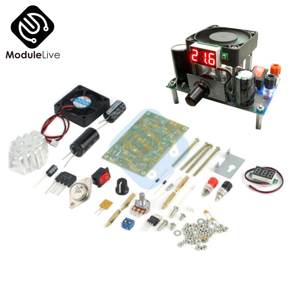 LM338K 3A Step Down Transformers Module DIY Kit for Arduino Raspberry pi Board Max 3A 50W DC AC Digital LED Display цена