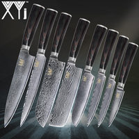 XYj Дамасская сталь узор лезвие кухонный нож Новое поступление 2018 Дамасские Ножи 3,5 4,5 5 5 7 7 8 8 кухонные киви инструменты