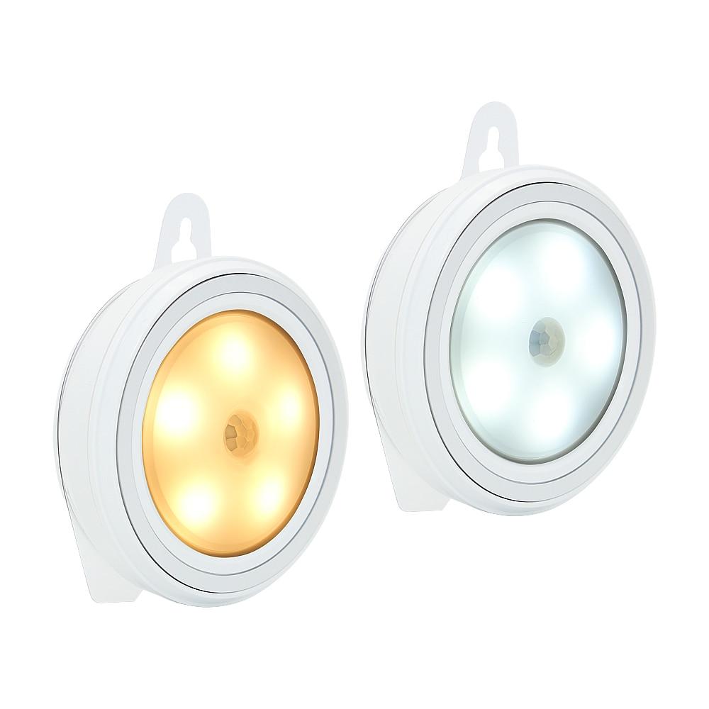 1 X LED Wardrobe Light 5 Leds PIR Body Motion Sensor Closet Wall Lamp Under Cabinet Lights For Bedroom Corridor Cupboard Kitchen