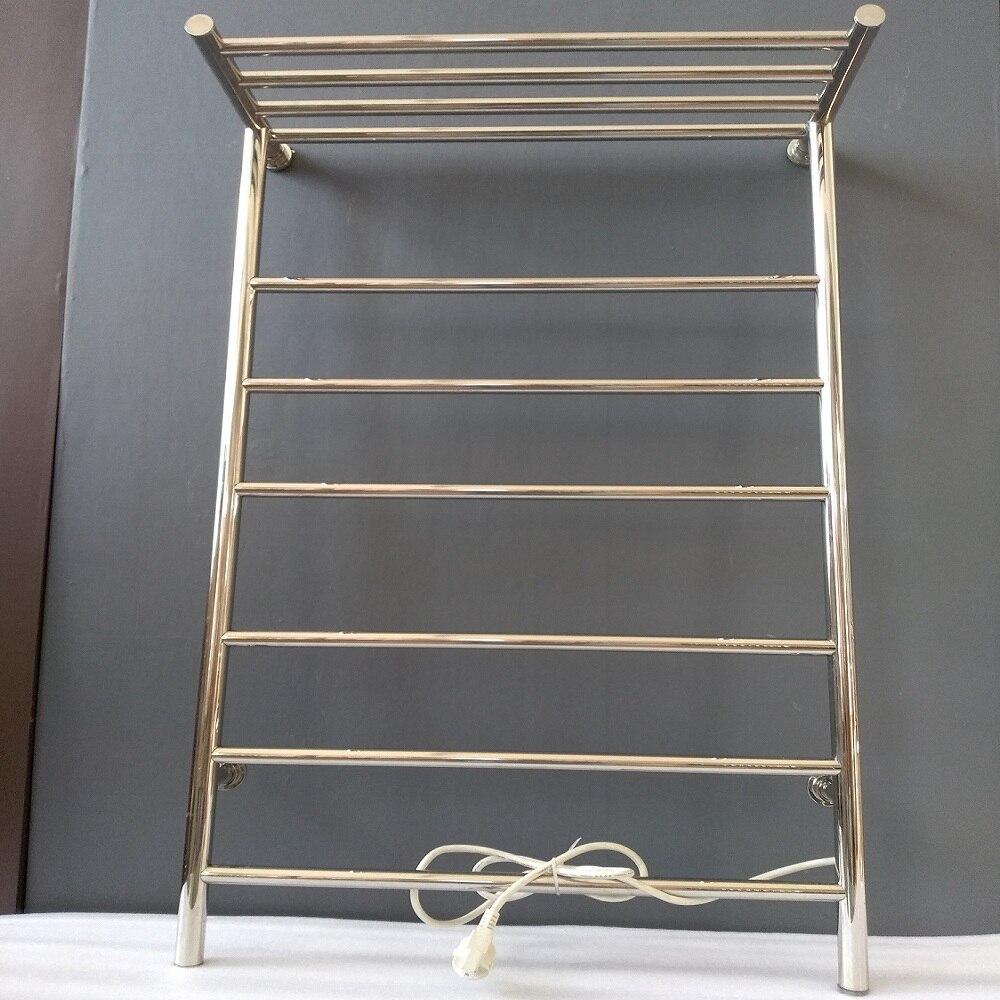 Braddan Stainless Steel Heated Towel Rail Warmer: Stainless Steel 304 Electric Heated Towel Rail Bthroom