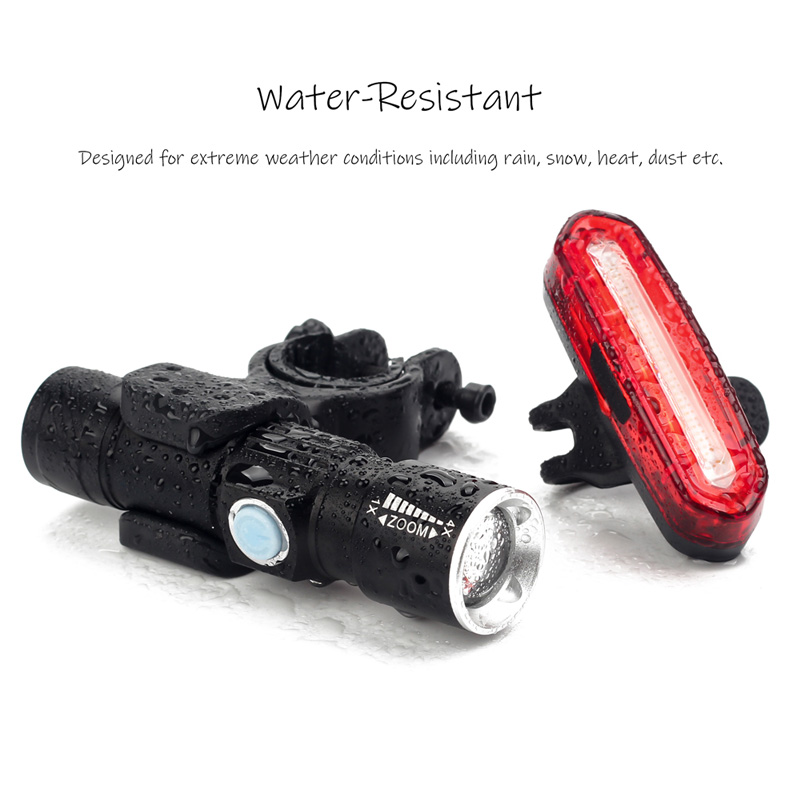 BIKEIN 1000LM Cycling Mountain Bike Led Front Torch Taillight USB Charge Rear Lamp Lantern For a Bicycle MTB Bike Accessories in Bicycle Light from Sports Entertainment